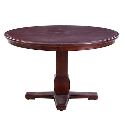 Mahogany Finish Wood Dining Table From the Reds Player's Clubhouse