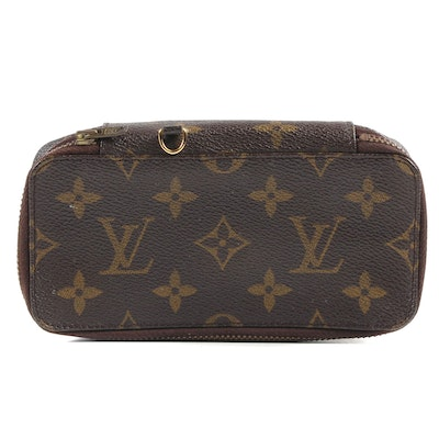Louis Vuitton Paris Flat Top Accessory Case in Monogram Canvas, Vintage