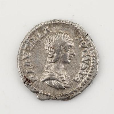 Ancient Roman Imperial AR Denarius of Plautilla, Ca. 205 A.D.