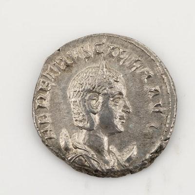 Ancient Roman Imperial AR Antoninianus of Herennia Etrucilla, Ca. 251 A.D.