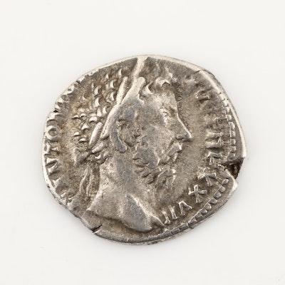 Ancient Roman Imperial AR Denarius of Marcus Aurelius, Ca. 173 A.D.