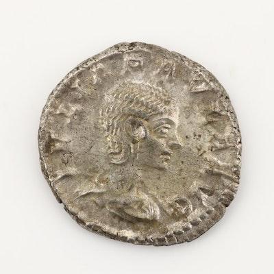 Ancient Roman Imperial AR Denarius of Julia Paula, Ca. 220 A.D.