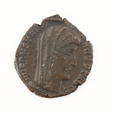 "Posthumous Commemorative AE4 of Constantine I ""The Great,"" Ca. 340 A.D."