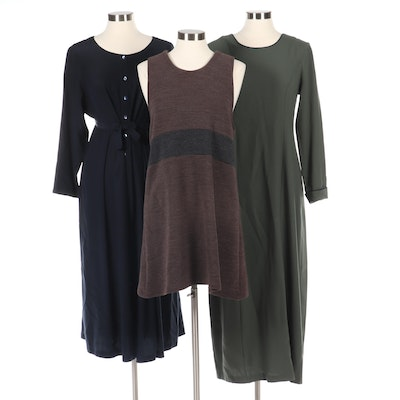 Lucy Domino and Eileen Fisher New York Dresses