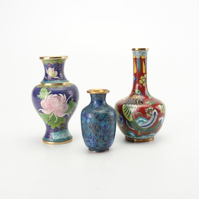 Jingfa and other Chinese Cloisonné Vases