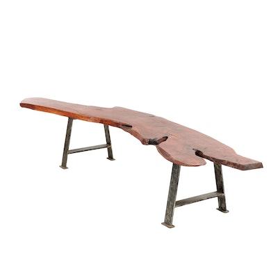 Living Edge Mesquite Wooden Bench
