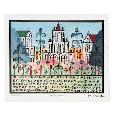 "Offset Lithograph after Howard Finster ""In This Mansion"""