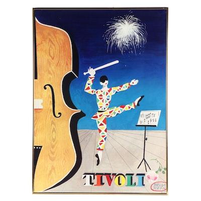 "Offset Lithograph Poster after Helge Refn ""Tivoli"""