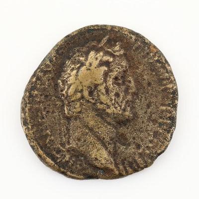 Ancient Roman Imperial AE Sestertius of Antoninus Pius, ca. 138 A.D.