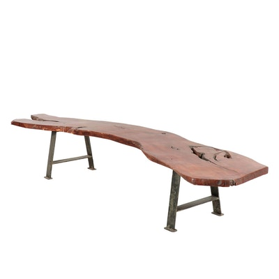 Living Edge Wooden Mesquite Bench