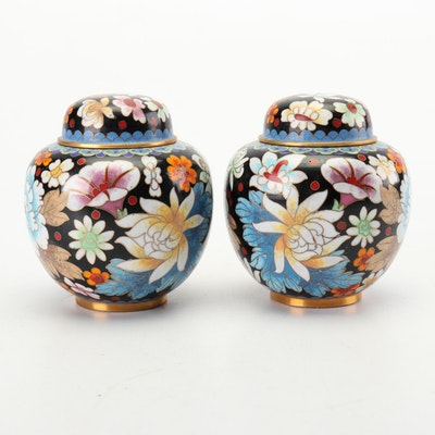 Chinese Jingfa Cloisonné Ginger Jars, Late 20th Century