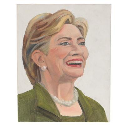 Oil Portrait of Hillary Clinton