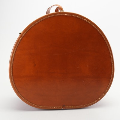 Shwayder Bros. Samsonite Vinyl Round Train Case, Mid-20th Century