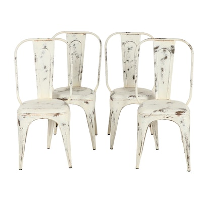 Metal Painted Chairs, Set of Four