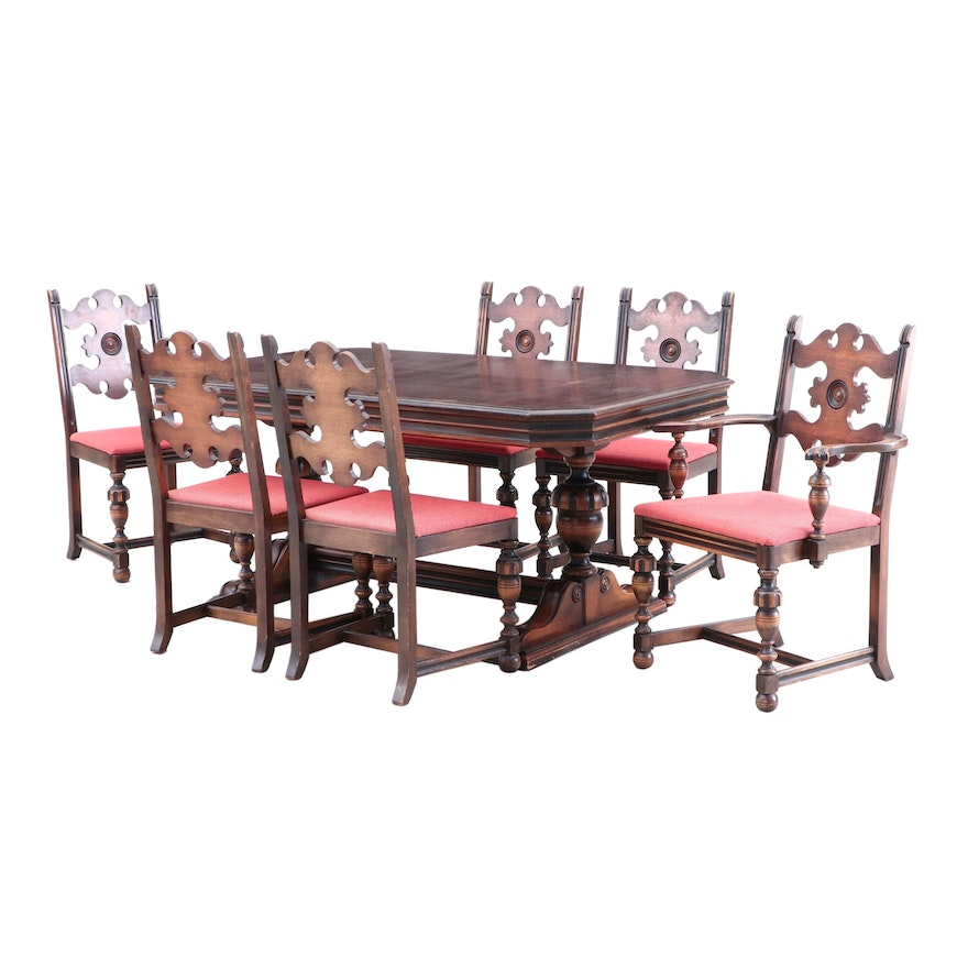 Groovy Berkey And Gay Walnut Dining Table And Dining Chairs Circa 1920 Cjindustries Chair Design For Home Cjindustriesco