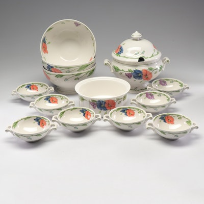 "Villeroy & Boch ""Amapola"" Tureen and Bowls"