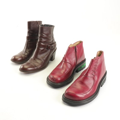 Robert Clergerie Paris and Giraudon New York Leather Boots