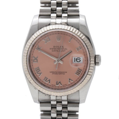 Rolex Oyster Perpetual Date Stainless Steel Automatic Wristwatch, Circa 2010