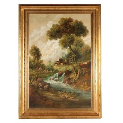 Bucolic Landscape Oil Painting