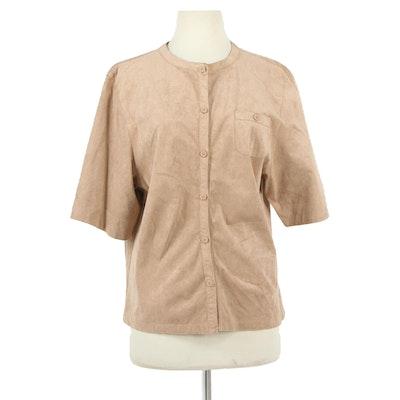 Mollie Parnis Ultrasuede Shirt Dresses and Blouse, 1970s Vintage