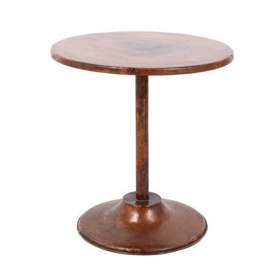 Contemporary Hand Hammered Copper Side Table