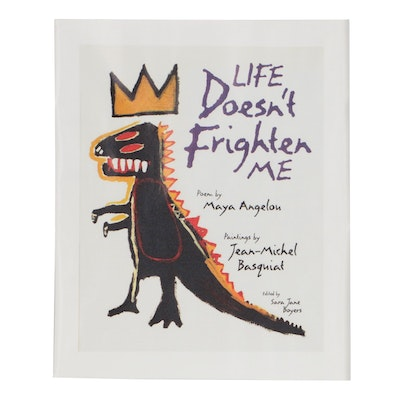 """Giclée after Jean-Michel Basqiat Book Cover for """"Life Doesn't Frighten Me"""""""