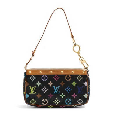 Louis Vuitton Paris Multicolore Monogram Canvas and Vachetta Leather Pochette