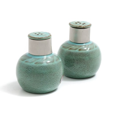 Nicodemus Ferro-Stone Salt and Pepper Shakers, Mid-Century