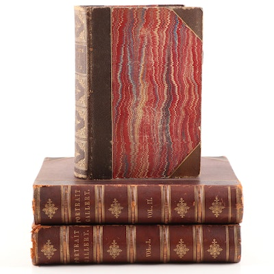 """Antique """"National Portrait Gallery of Eminent Americans"""" Two Volume Set and More"""
