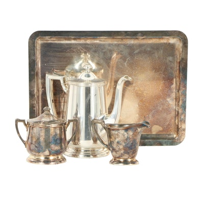 International Silver Co. Silver Plated Tea Service and Tray