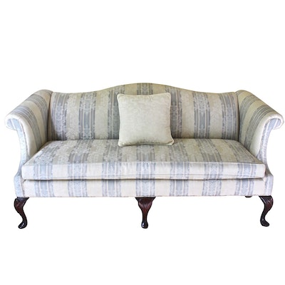 Taylorsville Queen Anne Style Camelback Sofa, Late 20th Century
