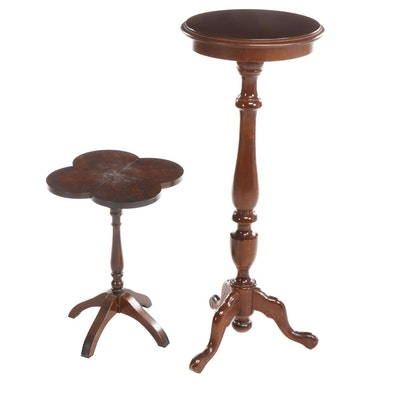 Pair of Colonial Style Wooden Plant Stands, Late 20th Century