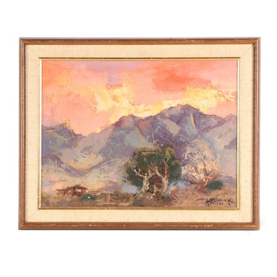Herman Rednick Landscape Oil Painting