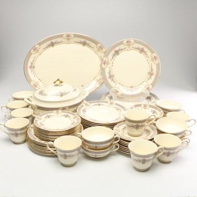 "Minton ""Persian Rose"" Porcelain Dinnerware, Late 20th Century"