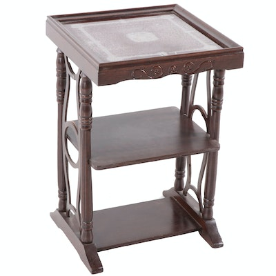Late Victorian Style Side Table by Sauder, Mid Twentieth Century