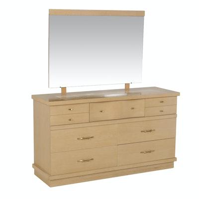 Harmony House Mid-Century Vanity Dresser with Mirror