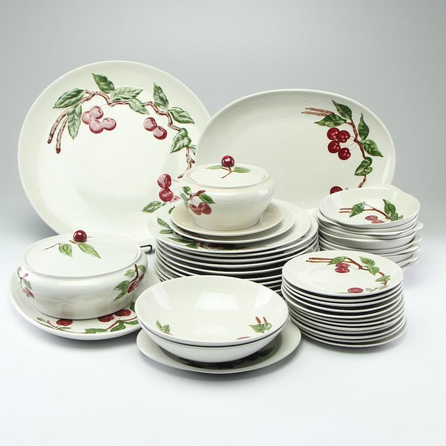 "California Ceramics Company Orchard Ware ""Cherry"" Tableware, Mid-Century"
