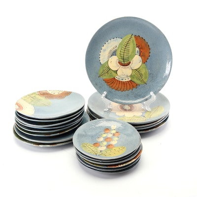 Mexican Hand-Painted Earthenware Plates