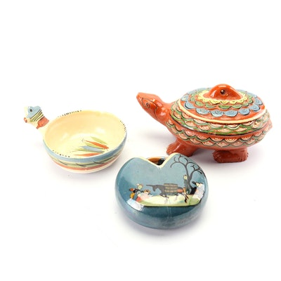 Hand-Painted Tlaquepaque Mexican Tableware and Decor