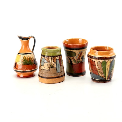 Hand-Painted Miniature Tlaquepaque Mexican Pottery