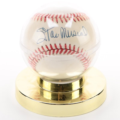 Stan Musial Autographed Baseball, JSA Certified