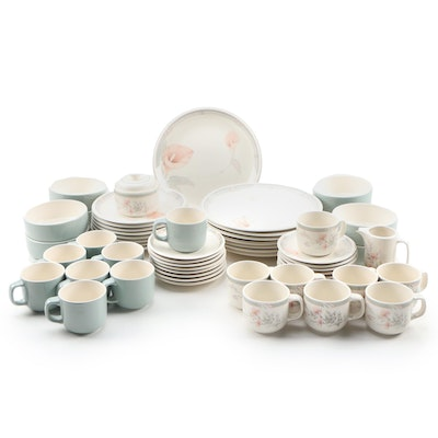 "Noritake/Keltcraft ""Eternal Blush"" and ""Deerfield"" Ceramic Dinnerware for Eight"