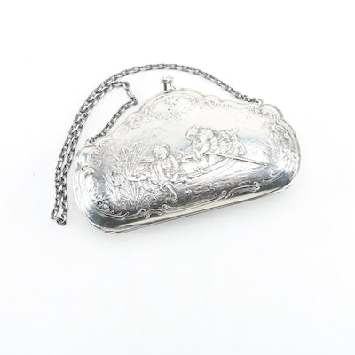 Hanau 800 Silver Wristlet in Figural Motif, Late 19th to Early 20th Century