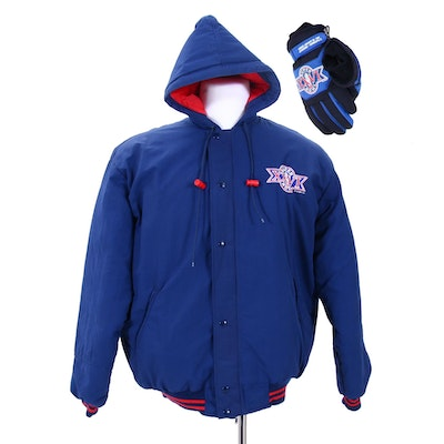 Super Bowl XXVI Winter Coat by Starter with Gloves
