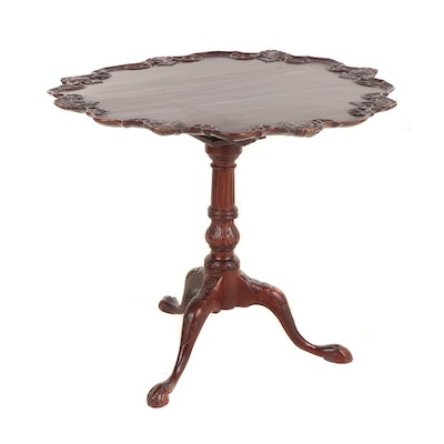 George III Style Mahogany Tilt-Top Table, 20th Century