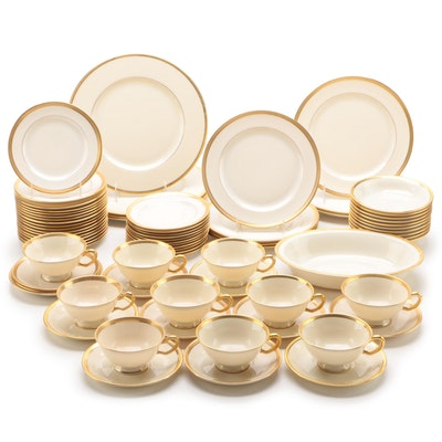 """Lenox """"Tuxedo"""" and Other Gold Rimmed Lenox China Dinnerware"""