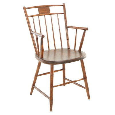Pennsylvania Birdcage Windsor Armchair by Frederick and Jacob Fetter
