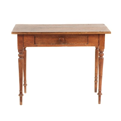 Federal Style One-Drawer Work Table