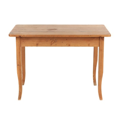Knotty Pine Kitchen Table, Late 20th Century