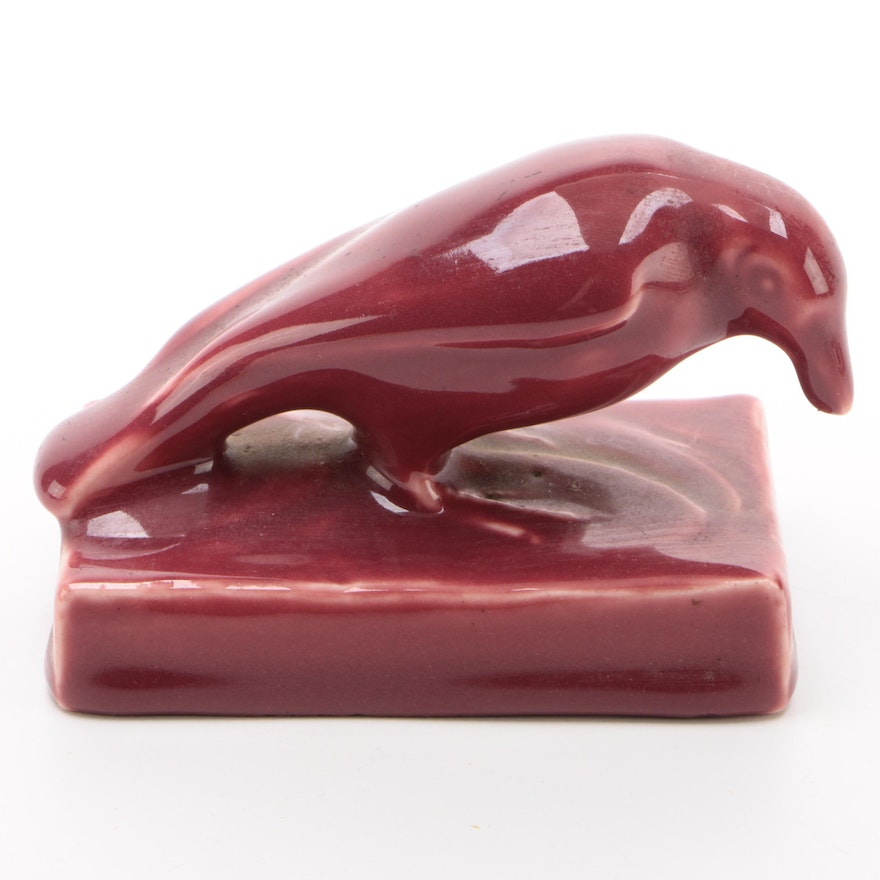 """Rookwood Pottery """"Rook"""" Paperweight, 1921"""